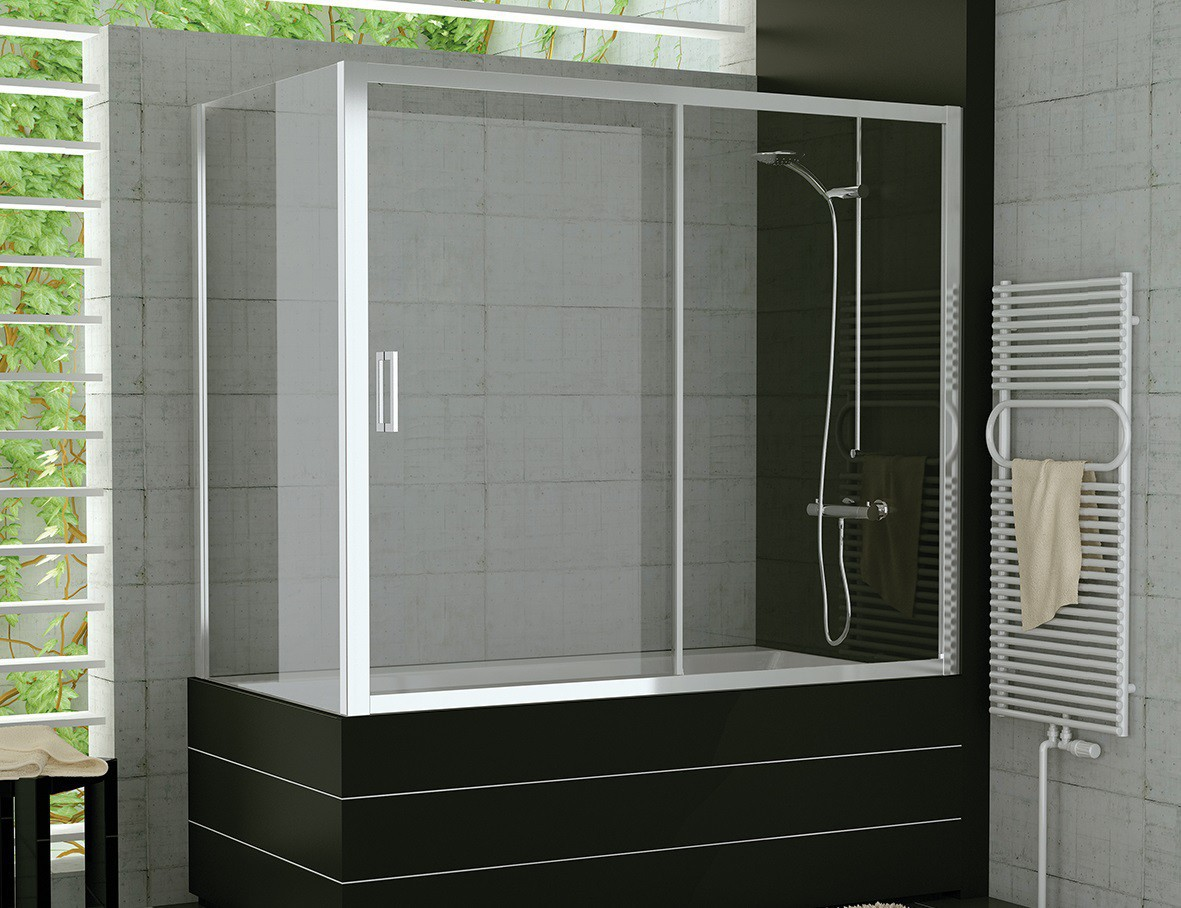 badewanne schiebet r mit seitenwand duschabtrennung dusche. Black Bedroom Furniture Sets. Home Design Ideas