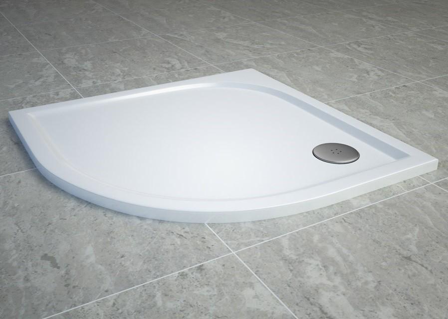 mineralguss duschwanne viertelkreis 90x90 cm duschwanne duschtasse viertelkreis duschtasse. Black Bedroom Furniture Sets. Home Design Ideas