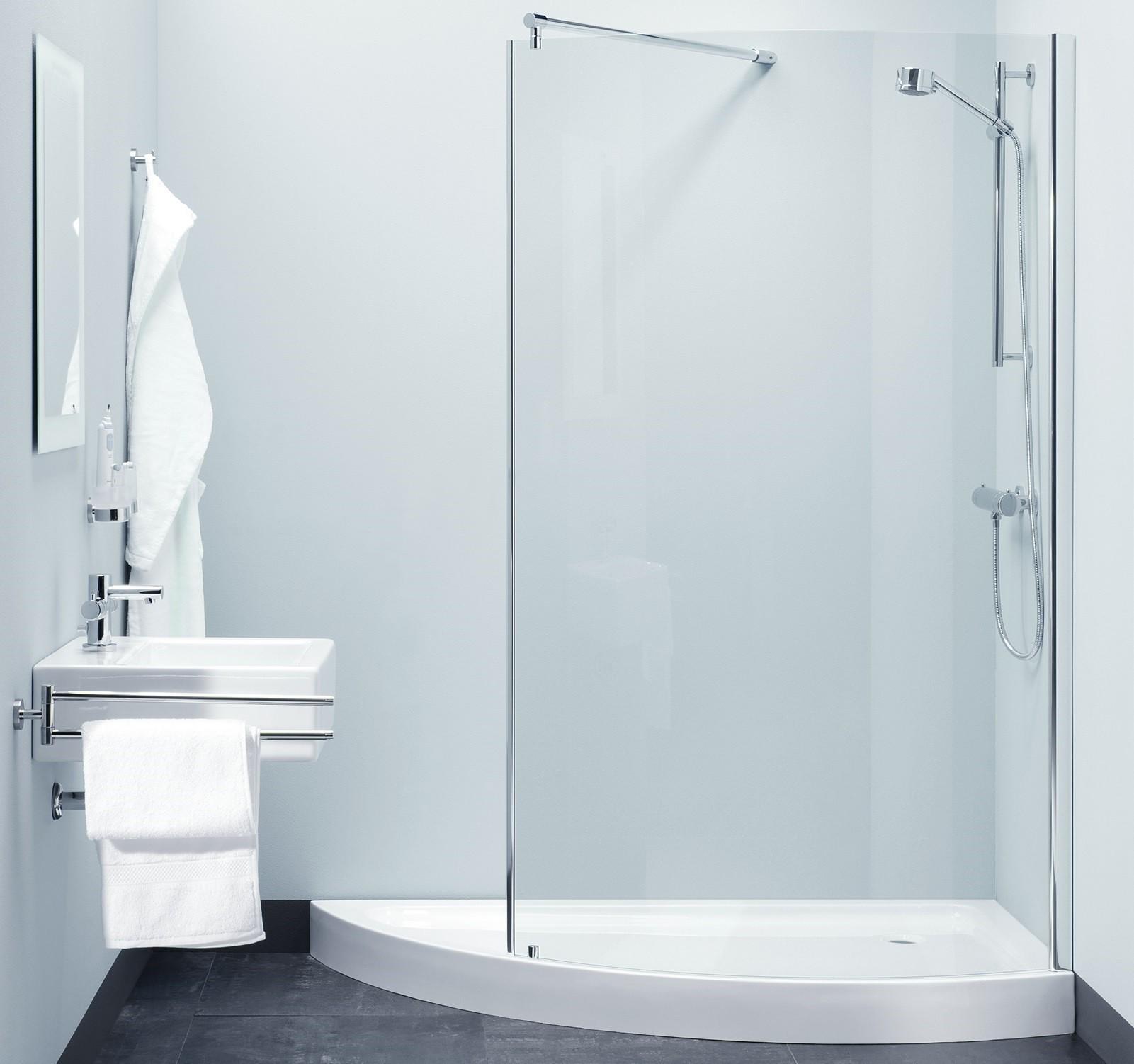 dusche walk in 120 x 190 cm duschwanne duschabtrennung. Black Bedroom Furniture Sets. Home Design Ideas