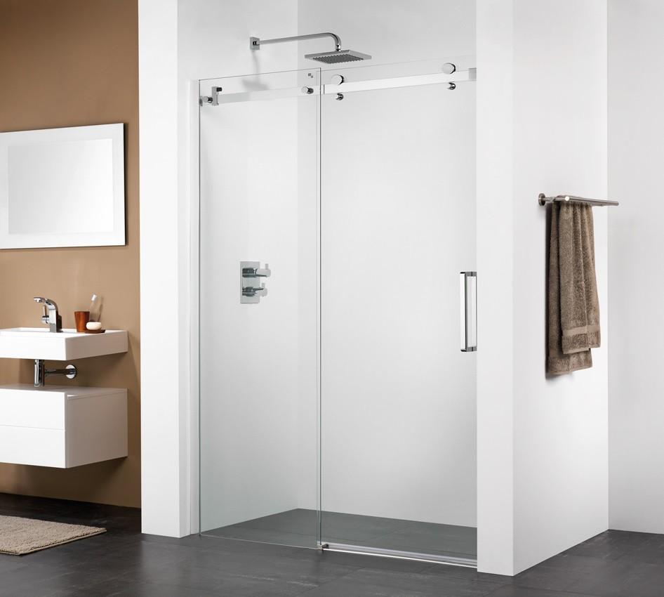 duscht r nische 120 x 195 cm schiebet r duschabtrennung duscht ren duscht r 120. Black Bedroom Furniture Sets. Home Design Ideas
