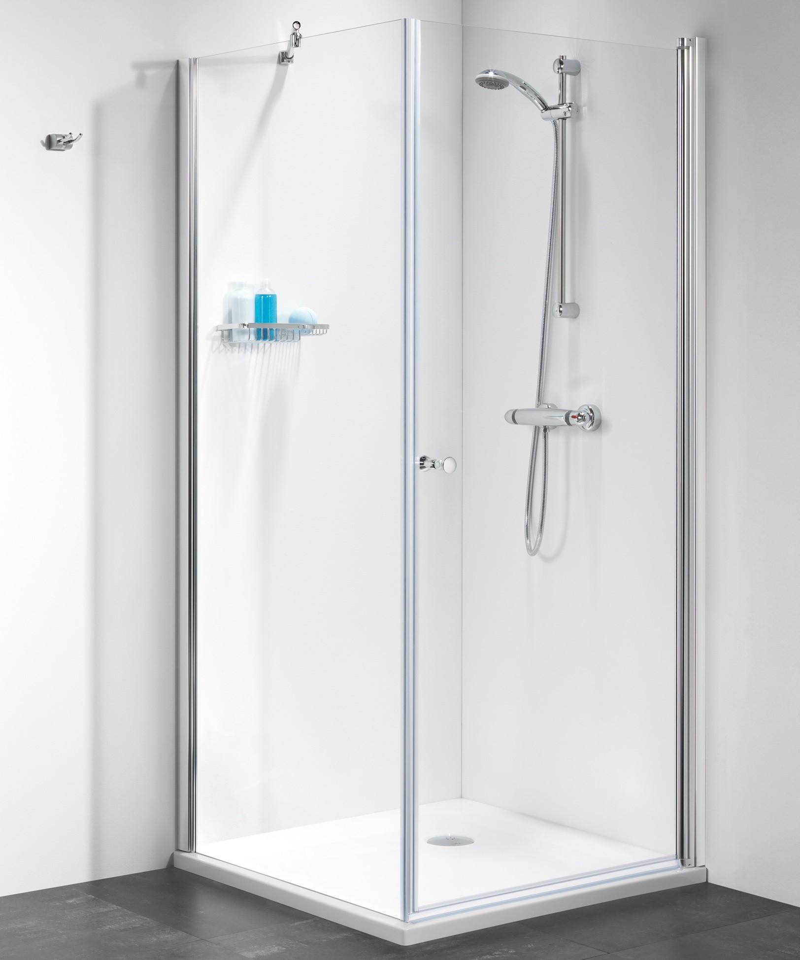 duscht r mit seitenwand 90 x 90 x 195 cm duschabtrennung dusche t r mit seitenwand dusche. Black Bedroom Furniture Sets. Home Design Ideas
