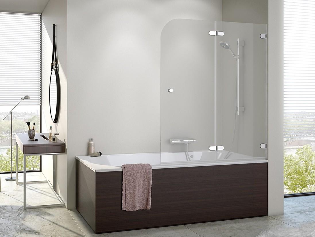 badewannenfaltwand 100 x 140 cm duschabtrennung dusche badewannenabtrennung wannenaufsatz 100. Black Bedroom Furniture Sets. Home Design Ideas