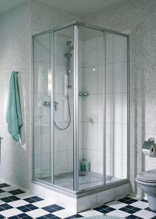 Duschkabine dusche eckeinstieg 80 x 70 x 185 schiebet r for Bad design heizung