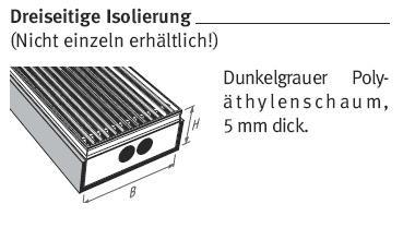 unterflurkonvektor isolierung heizk rper unterflurkonvektor bodenkonvektor zubeh r. Black Bedroom Furniture Sets. Home Design Ideas