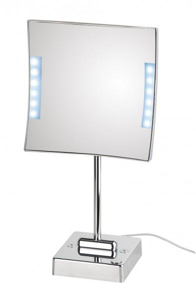 led kosmetikspiegel 3 fach 20 x 20 cm accessoires spiegel vergr erungsspiegel. Black Bedroom Furniture Sets. Home Design Ideas