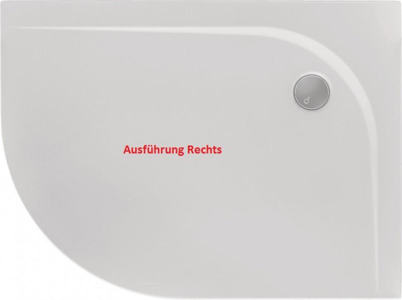 Bodengleiche Badewanne duschtasse rund superflach 120 x 90 x 2 cm r55 duschwanne duschtasse viertelkreis duschtasse