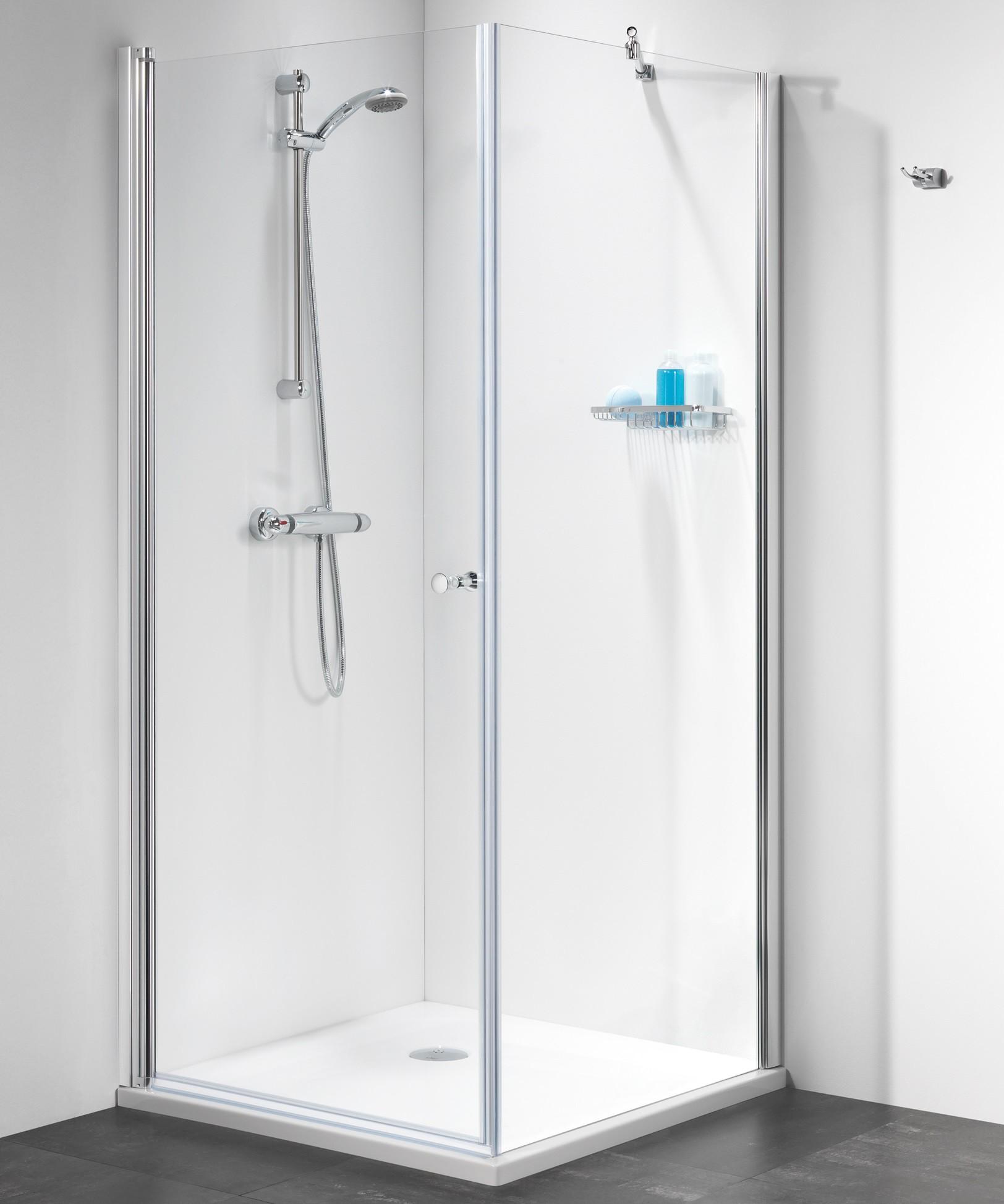 duscht r mit seitenwand 100 x 100 x 195 cm duschabtrennung dusche t r mit seitenwand dusche. Black Bedroom Furniture Sets. Home Design Ideas