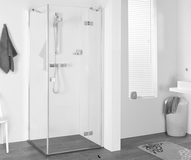 dusche t r seitenwand 100 x 100 x 195 cm duschabtrennung dusche t r mit seitenwand dusche. Black Bedroom Furniture Sets. Home Design Ideas
