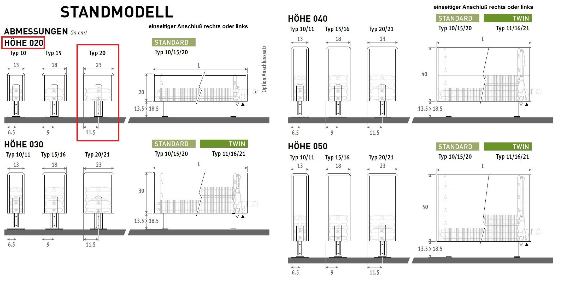 flache standheizk rper mit hoher w rmeleistung. Black Bedroom Furniture Sets. Home Design Ideas